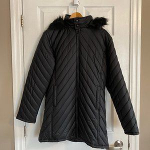 Boom Black Long Puffer Jacket